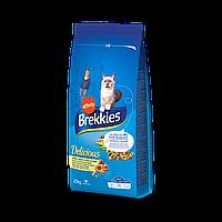 Сухой корм Brekkies Cat Delice Fish для взрослых котов с рыбой 20 кг