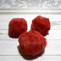 Помпон, 5 см , эко-мех, цвет бордовый, 1 шт.