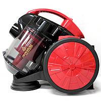 Мощный Колбовый пылесос с турбощеткой Crownberg CB-0110 2400W