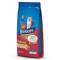 Сухой корм Brekkies Cat Delice Meat для взрослых котов с курицей 20 кг