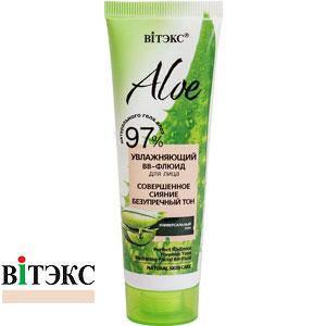 Витэкс - BB Cream Aloe 97% BB-флюид увлажняющий Совершенное сияние Безупречный тон универсальный 50ml, фото 2