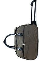 Сумка на колесах тканевая большая XL Коричневая (59*31*38) чемодан дорожная сумка валіза на колесах