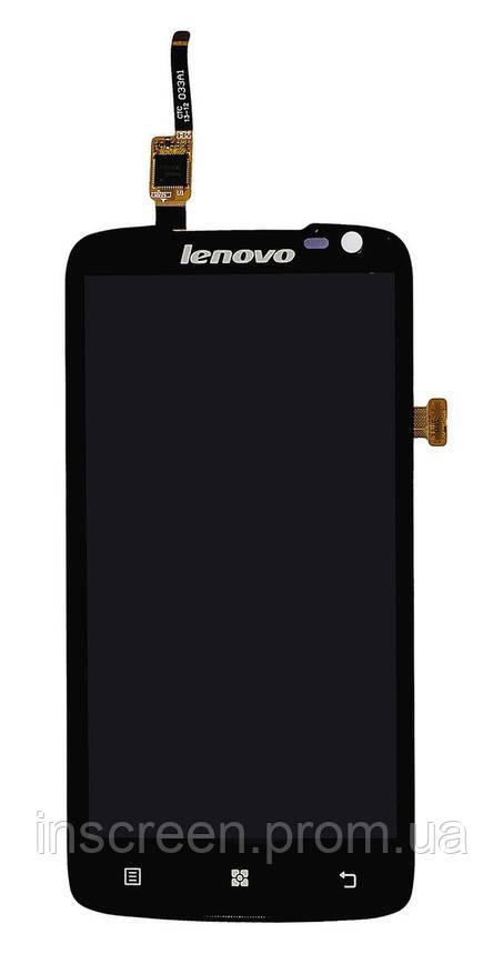Дисплей Lenovo S820 з сенсором (тачскрін) чорний, фото 2