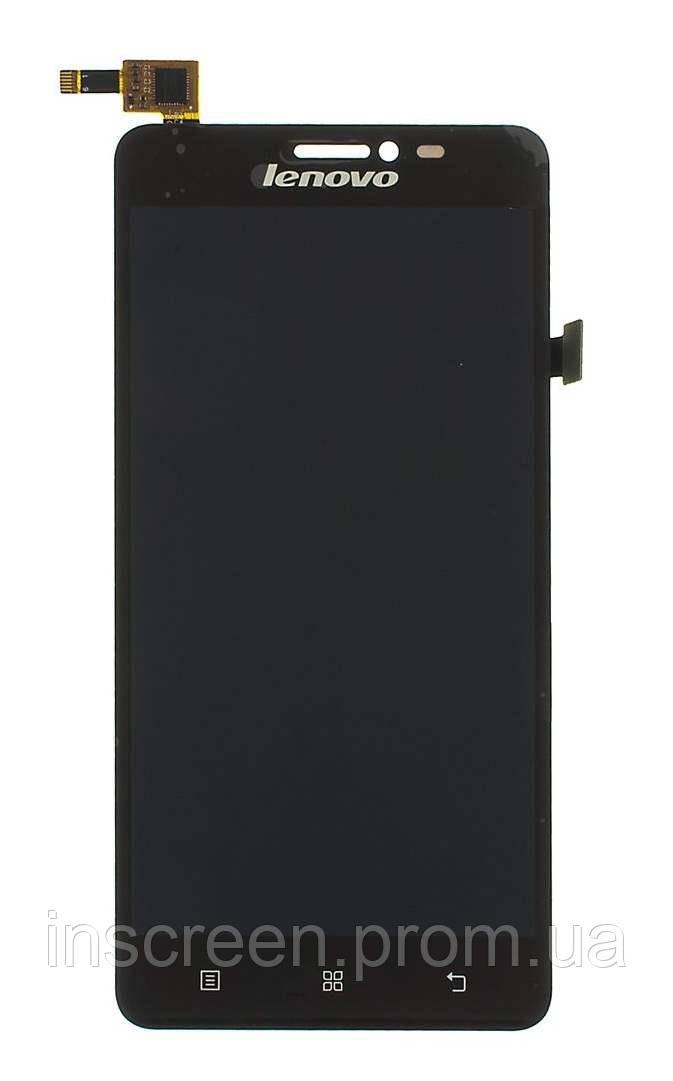 Дисплей Lenovo S850 з сенсором (тачскрін) чорний