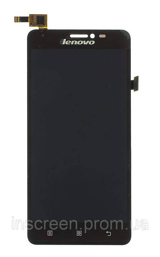 Дисплей Lenovo S850 з сенсором (тачскрін) чорний, фото 2
