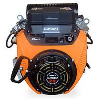 Бензиновый двигатель Lifan LF 2V80F-А (29 л.с., эл.стартер, вал 25 мм)