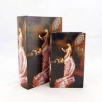 Шкатулка 2х – Леди в розовом 27-KSH-SC387-PU, 27*18*7 см
