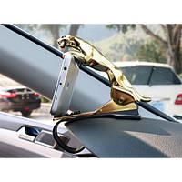 Держатель для телефона в автомобиль Леопард. Золото ( Примята/Повреждена упаковка)
