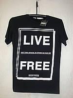 Мужская черная футболка с надписью Alcott