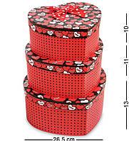 "Подарочная упаковка WG-55 Набор коробок из 3шт ""Сердце"" - Вариант A (AE-301108)"