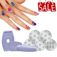 Маникюрный набор стемпингов для ногтей Салон Экспресс |  Salon Express узоры на ногтях
