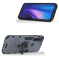 Чохол Xiaomi ударостійкий Transformer Ring під магнітний тримач для Xiaomi Redmi Note 8 Сірий / Metal slate, фото 5