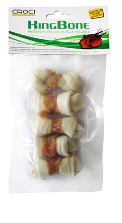 Ласощі для собак кісточка вузлова з куркою CROCI KingBone 6 см, 5 шт/10 гр