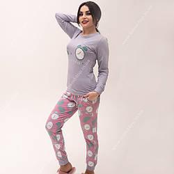 Пижама женская хлопковая (сиреневая)