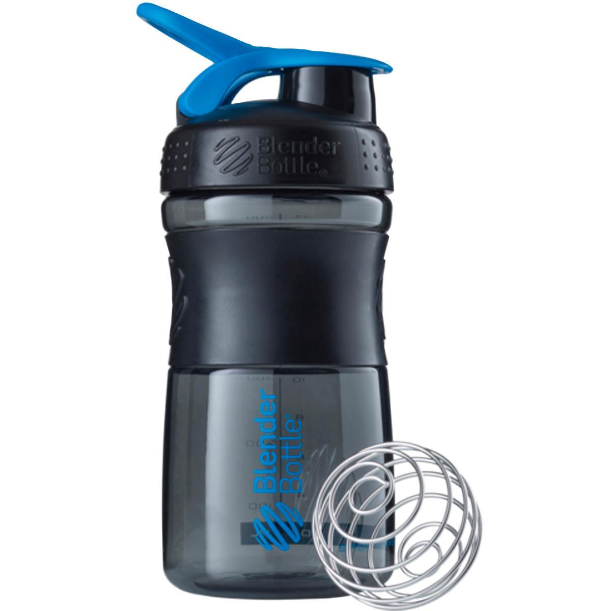 Шейкер Blender Bottle SportMixer MINI Black-Cyan (591 мл) - МИНИ Темно-голубой