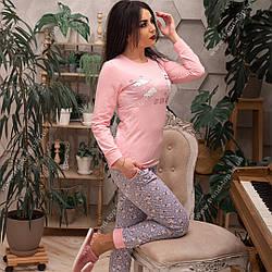 Женская пижама хлопковая (розовая)