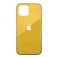 Чехол накладка xCase на iPhone 11 Pro Glass Case Logo Metallic yellow
