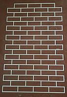 Многоразовый трафарет форма декоративной кладки под гипсовый или другой кирпич (154х48мм шов 8 мм)