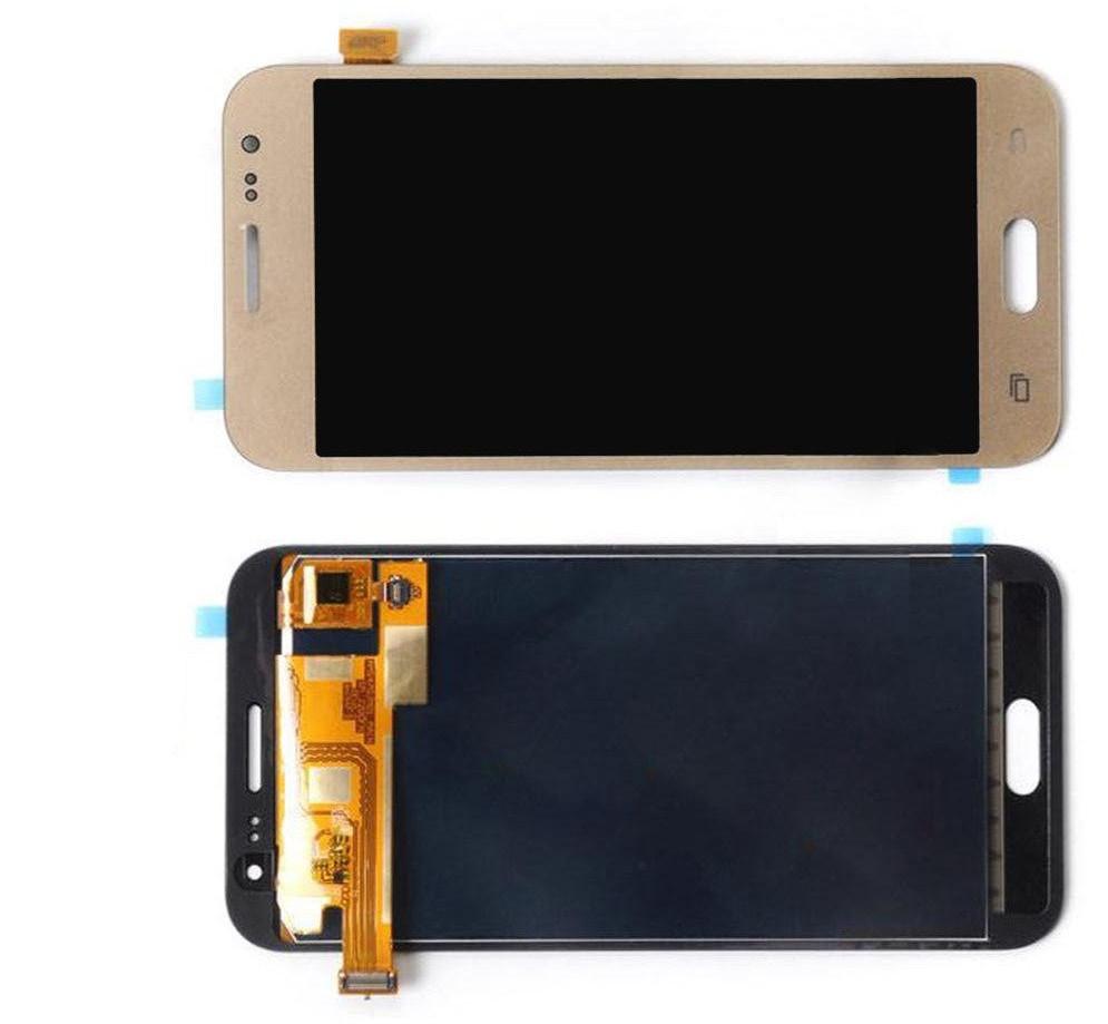 Дисплей модуль Samsung J700 Galaxy J7 Original (PRC) в зборі з тачскріном, золотистий