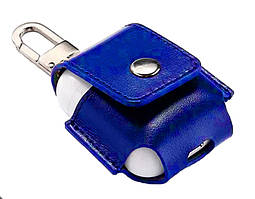 Чехол для AirPods/AirPods 2 Leather case синий