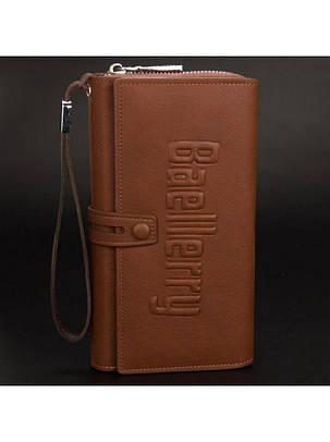 Мужской портмоне Клатч Baellerry коричневый, фото 2