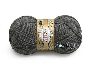 Alize Alpaca Tweed, Серый меланж №196