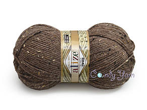 Alize Alpaca Tweed, Кофе с молоком меланж №688