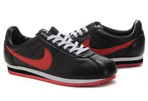 Кроссовки мужские Nike cortez черные с красным
