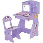 Парта растишка Bambi  M 0324 (Hello Kitty, School Bag; 65-65-103 см)