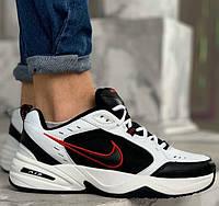 "Мужские кроссовки Nike Air Monarch IV ""Black/White"" белые с черным. Живое фото. Топ реплика ААА+"