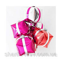 Фольгированный шар Куб Подарок 1 штука