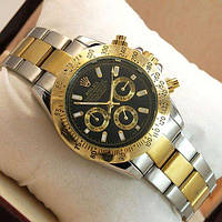 Часы мужские Rolex Daytona Men Silver/Gold/Black