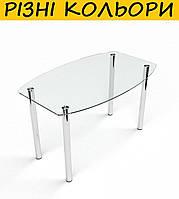 Стол кухонный стеклянный Бочка прозрачный. Цвет и размер можно изменять. Есть фотопечать и матировка.
