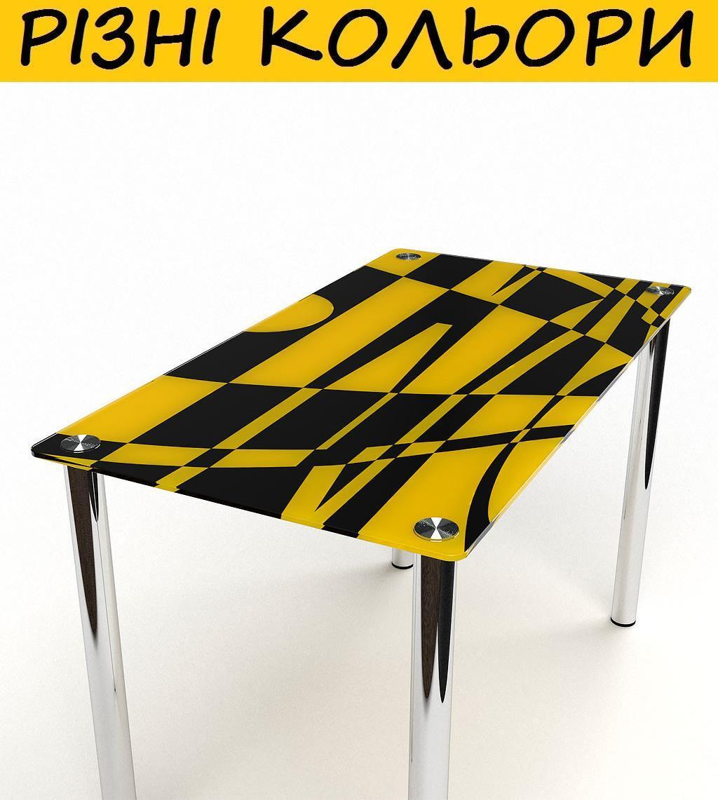 Стол кухонный стеклянный Абстракция. Цвет и размер можно изменять. Есть фотопечать и матировка.