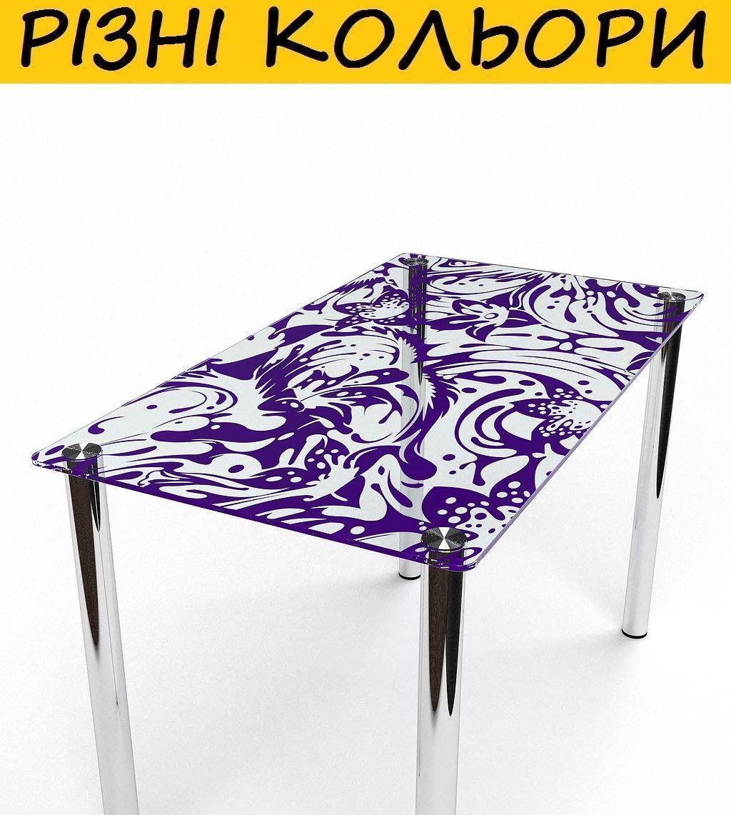Стол кухонный стеклянный Весна. Цвет и размер можно изменять. Есть фотопечать и матировка.
