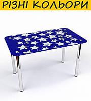 Стол кухонный стеклянный Звезды S-2. Цвет и размер можно изменять. Есть фотопечать и матировка.