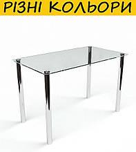 Стол кухонный стеклянный Прозрачный. Цвет и размер можно изменять. Есть фотопечать и матировка.