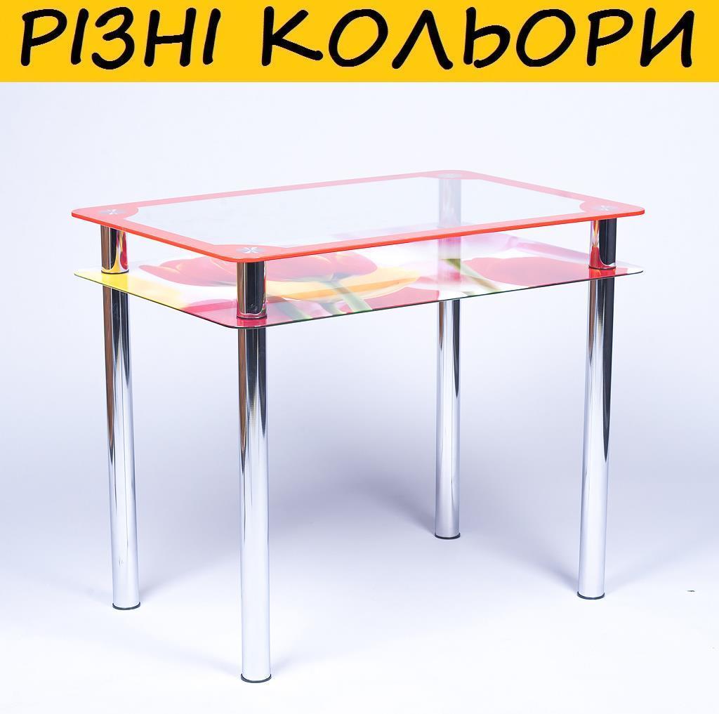 Стол кухонный стеклянный Рамка фотопечать. Цвет и размер можно изменять. Есть фотопечать и матировка.