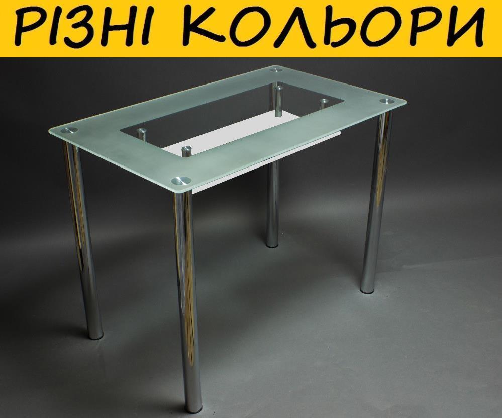 Стол кухонный стеклянный СК-4. Цвет и размер можно изменять. Возможна фотопечать и матировка.
