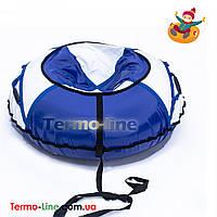 Санки надувные 80 см Белый-Синий (ПВХ)