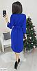 Красивое платье с пояском из двунитки, размеры: 42-44, 46-48, черный, серый, электрик, св.серый, бордовый, фото 7