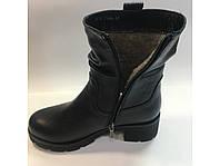 Высокие зимние женские ботинки на зимнем каблуке тм.Ross