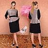 Батальное люрексовое  платье миди с баской. Цвета!