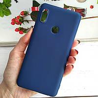 Чехол на Xiaomi Redmi Note 5 Soft-TPU матовый Синий