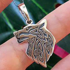 Серебряный кулон Волк - Кулон-оберег Волк Велеса серебро