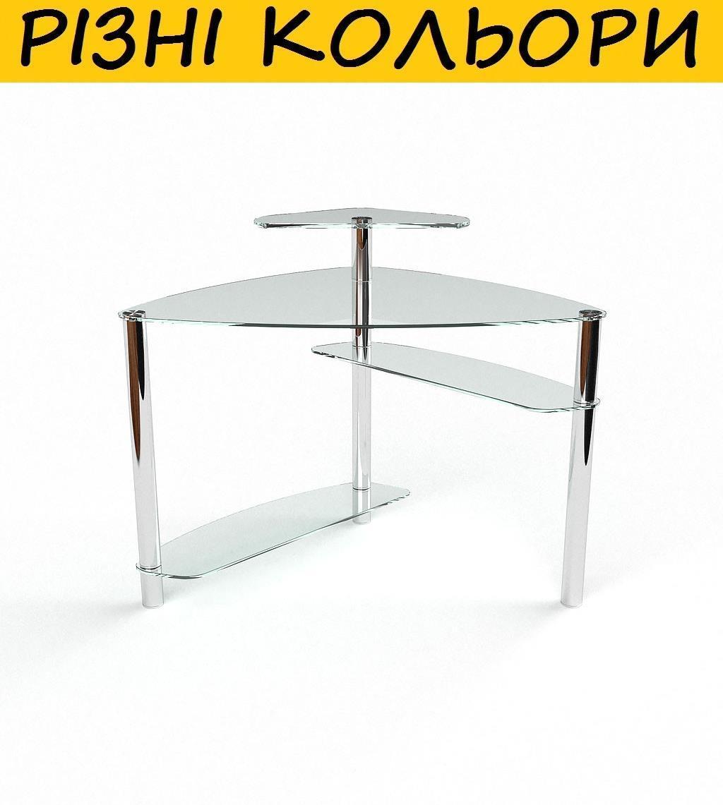 """Стол компьютерный стеклянный """"Електра"""". Цвет и размер можно изменять. Возможна фотопечать и матировка."""