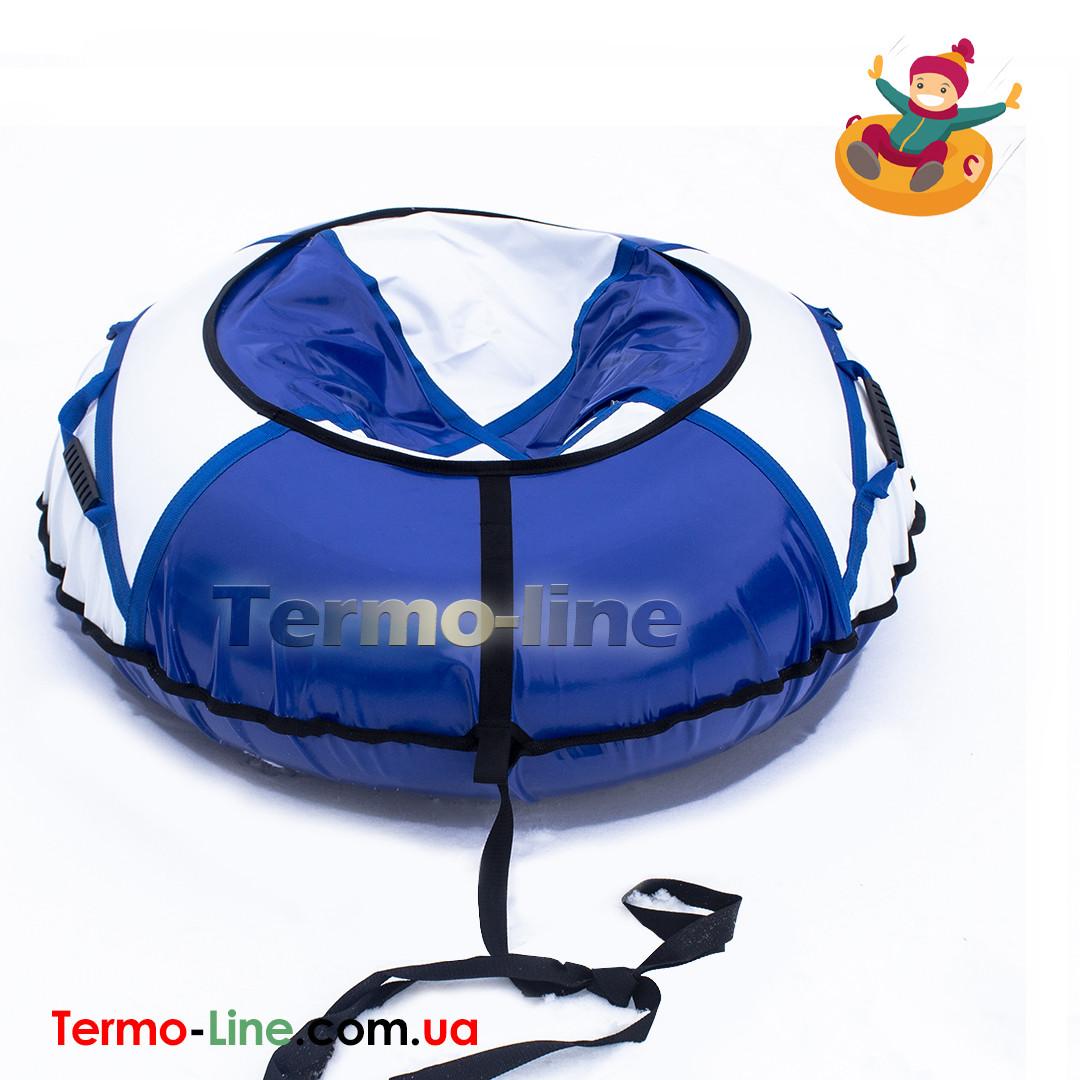 Санки надувные 120 см Белый-Голубой(ПВХ)