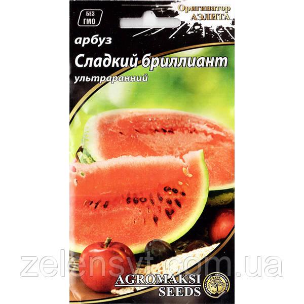 """Насіння кавуна ультраранній """"Солодкий діамант"""" (2 г) від Agromaksi seeds"""