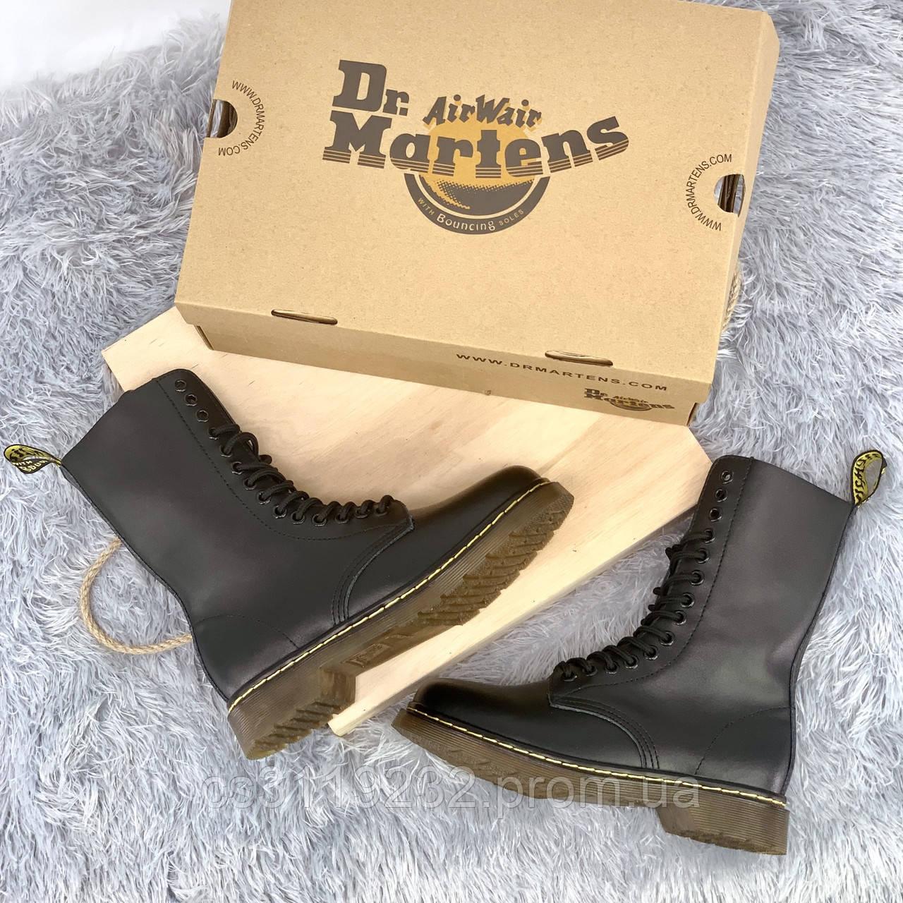 Мужские ботинки зимние Dr Martens 1914 (мех) (черный)