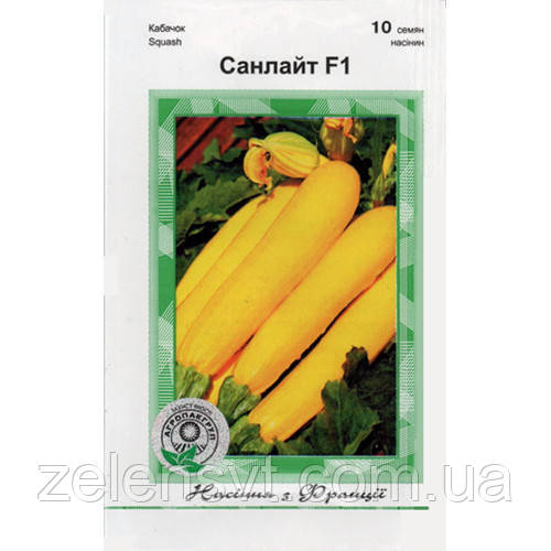 """Насіння кабачка раннього, кущового """"Санлайт"""" F1 (10 насіння) від Clause, Франція"""